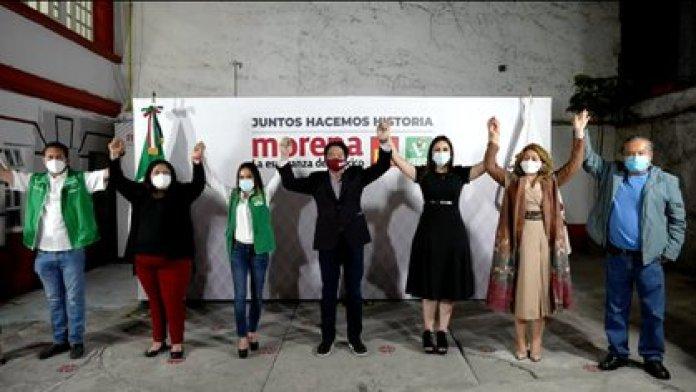 Morena formará una coalición con el PT y el Partido Verde para mantener la mayoría en la Cámara de Diputados tres años más (Foto Captura de pantalla Morena)