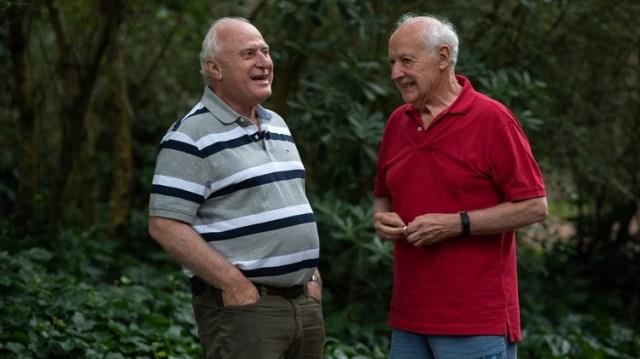 Lavagna junto a Miguel Lifschitz, uno de sus principales socios (Diego Medina)