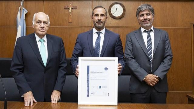 El fallecido juez Tassara, Gorini y Giménez Uriburu (Foto: Centro de Información Judicial)