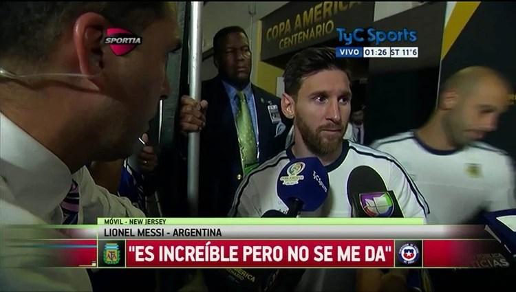 La recordada frase de Lionel Messi tras la final perdida con la Argentina ante Chile