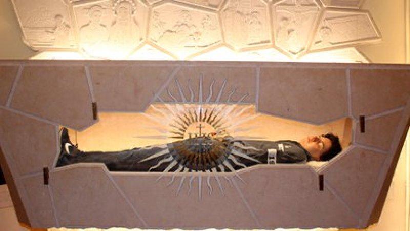 El cuerpo de Carlo Acutis en Asís (Photo by IPA/Sipa USA)