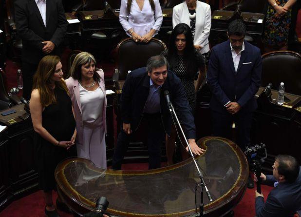 """Máximo Kirchner juró como diputado nacional. Usó una frase de una canción de los Redondos: """"En este día y cada día"""""""