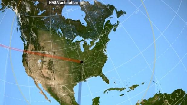 El eclipse atravesará 14 estados de EEUU