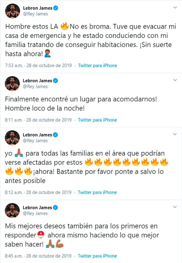 Los tuits de Lebron James