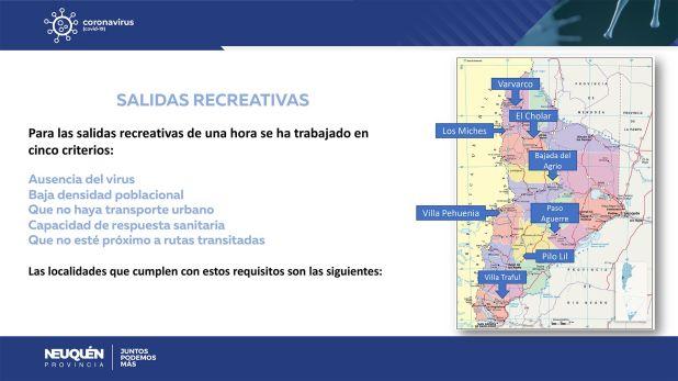 Las localidades que tendrán habilitadas salidas recreativas