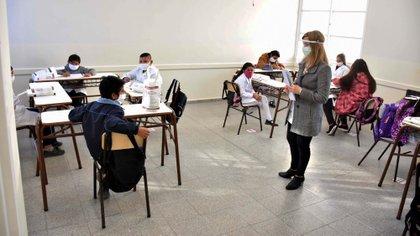 San Juan: Alumnos que regresaron a las aulas en 2020 Foto: Ruben Paratore/Télam