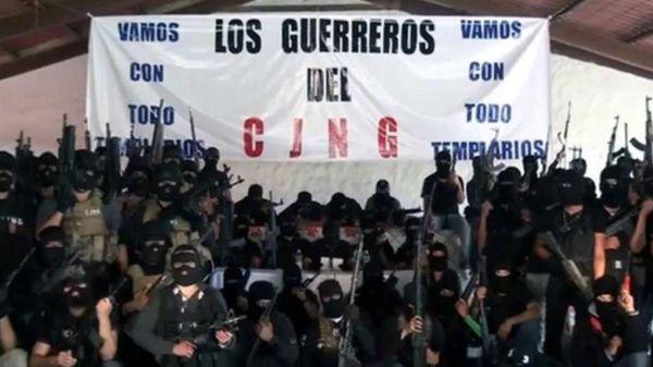 Integrantes del Cártel Jalisco Nueva Generación (CJNG)