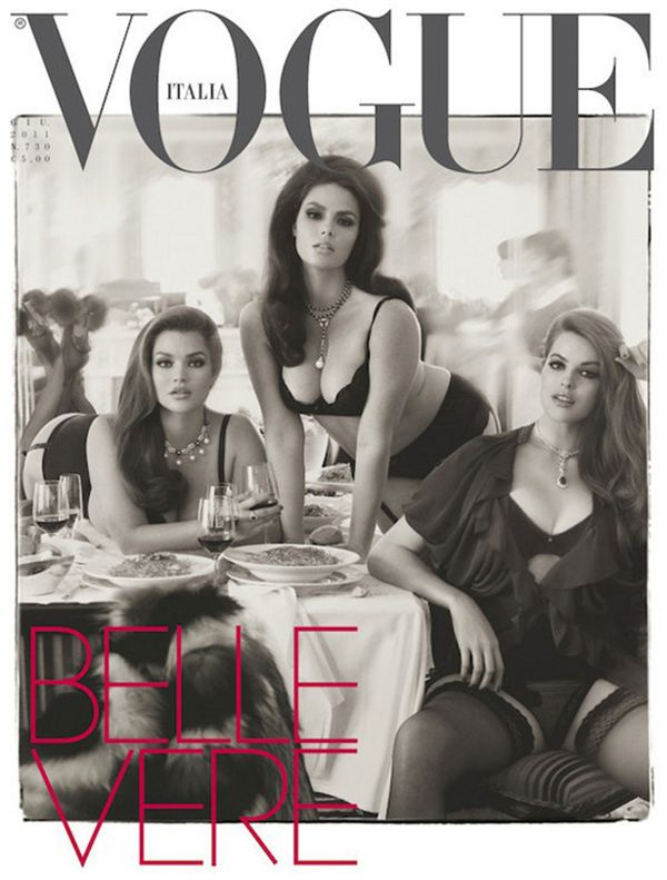 La memorable tapa de Vogue Italia en 2011 con referentes de la moda que inspiran con su historia y belleza curvy