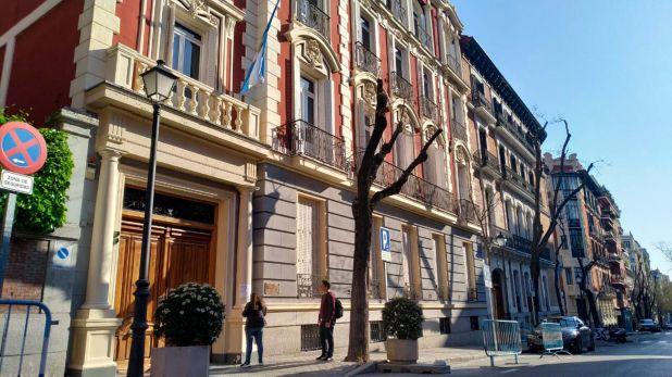 El consulado argentino en Madrid