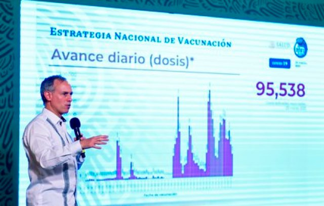 El funcionario de salud explicó que trabajan con el Inai para la transparencia de datos (Foto: EFE/Presidencia de México)