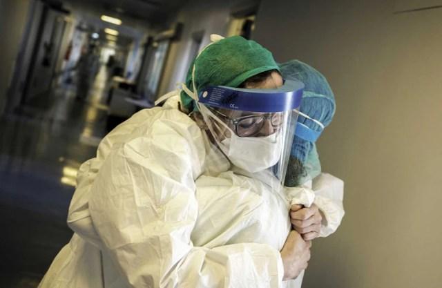 Enfermeras italianas (AFP Paolo Miranda)