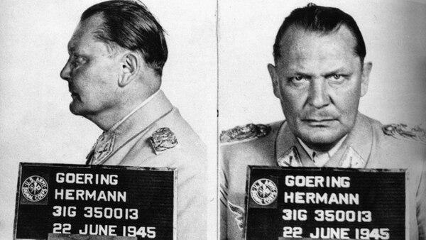 Hermann Göring fue detenido por los americanos