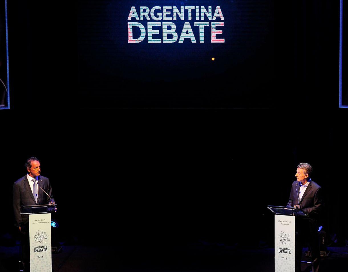 El debate del balotaje 2015 entre Mauricio Macri y Daniel Scioli (NA)
