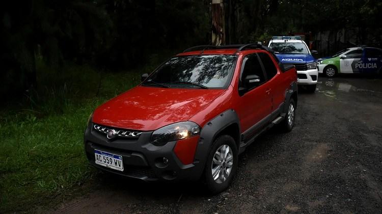LA camioneta Fiat Adventure donde se encontró el celular (Nicolas Stulberg)
