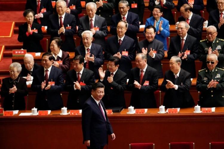 La llegada del presidente Xi Jinping al Congreso (Reuters)