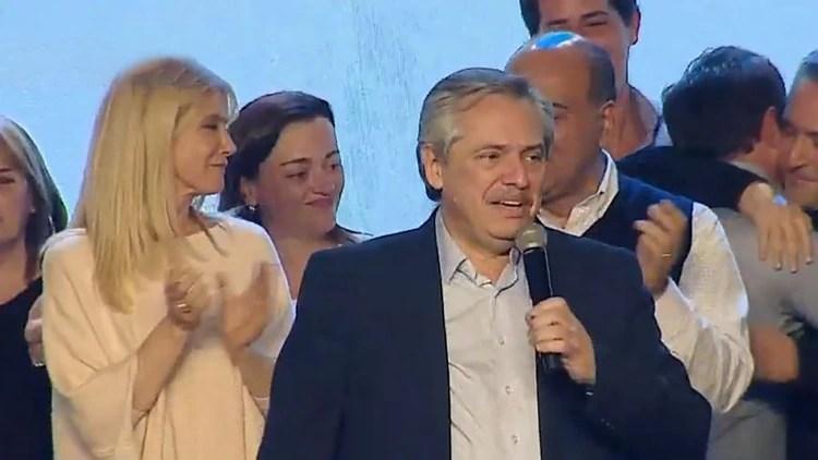 Alberto Fernández, ayer