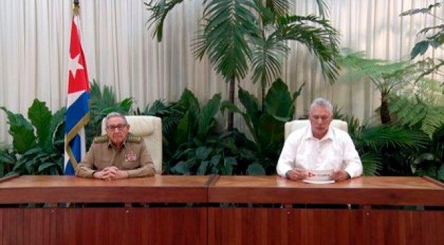 Miguel Diaz-Canel Y Raúl Castro