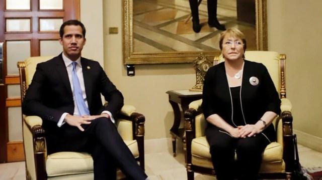 Juan Guaidó, presidente interino, se reunió con Michelle Bachelet el viernes 21 de junio en Caracas