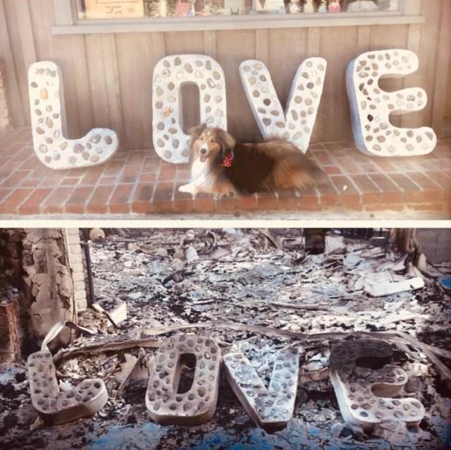 El antes y después de la casa de Miley Cyrus y Liam Hemsworth tras el incendio forestal (Twitter, Miley Cyrus)