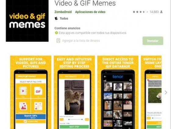 Video and GIF memes permite hacer creaciones animadas