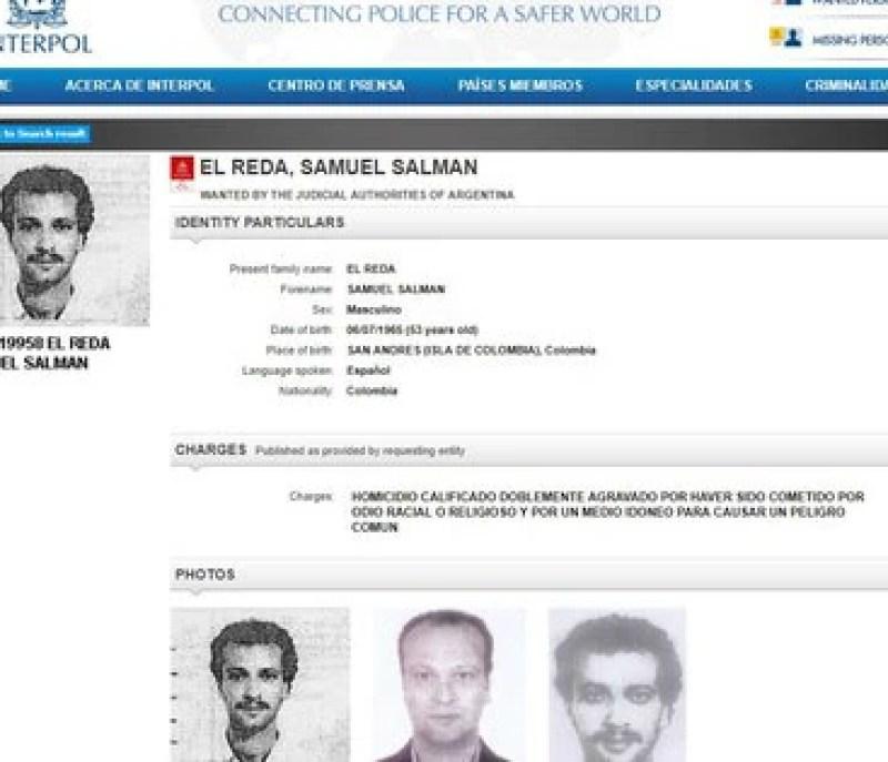 La circular roja de Interpol que pide la captura de Salman el-Reda