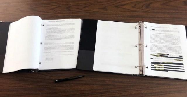 Considerables partes del documento están tachadas por el Departamento de Justicia, que en cada parte explica por qué fue censurada (Reuters)