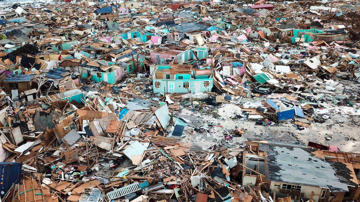 El paso devastador de Dorian por las Bahamas. (AP Photo/Gonzalo Gaudenzi)