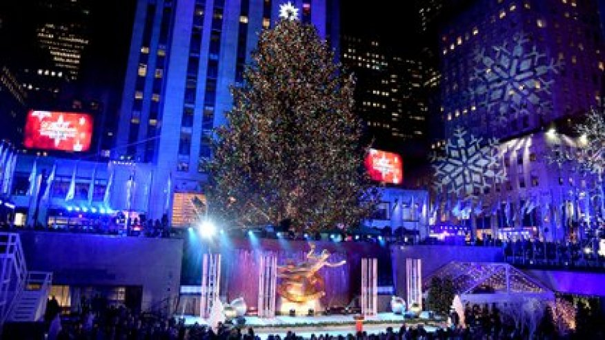 Christmas at Rockefeller Center.  Theo Wargo / Getty Images / AFP