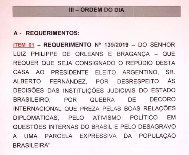 La moción de repudio contra Alberto Fernández
