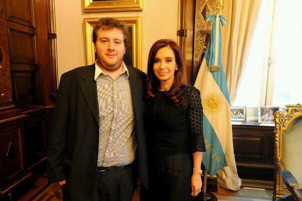 Mercado con Cristina Kirchner, en la Casa Rosada, cuando era presidenta