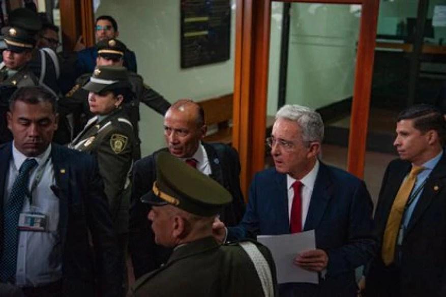 09/29/2020 The former president of Colombia Álvaro Uribe.  SOUTH AMERICA COLOMBIA LATIN AMERICA INTERNATIONAL POLICY SEBASTIAN BARROS SALAMANCA / ZUMA PRESS / CONTACT