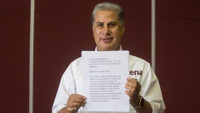 Rojas Díaz Durán busca la dirigencia nacional de Morena (Foto: Isaac Esquivel/ Cuartoscuro)