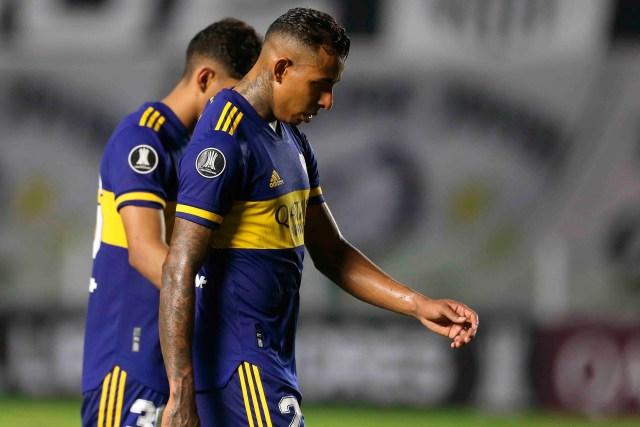 En la imagen, el centrocampista colombiano de Boca Juniors Sebastián Villa. EFE/Guilherme Dionizio/Pool/Archivo