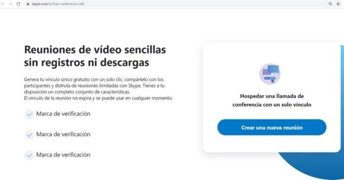 Meet Now permite compartir llamadas con otros usuarios que no tengan Skype