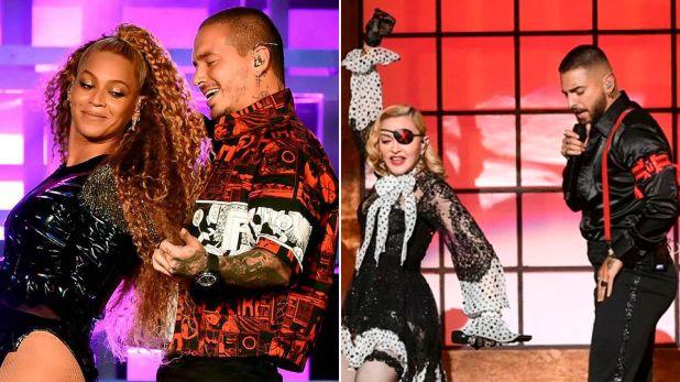 Beyonce con J Balvin, y Madonna con Maluma
