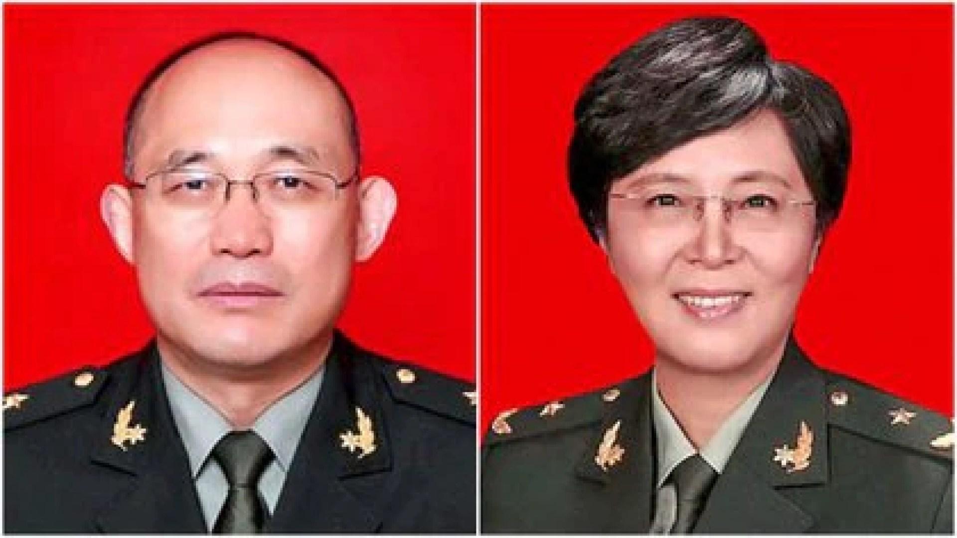 El coronel Cao Wuchun, asesor del Instituto de Virología de Wuhan y el general de división Chen Wei, la principal experta en biodefensa de China.
