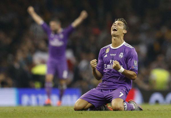 Cristiano Ronaldo celebra la consagración en laUEFA Champions League (Reuters)