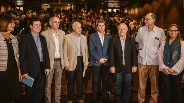 Sergio Uñac junto a Miguel Lifchitz y Roberto Lavagna