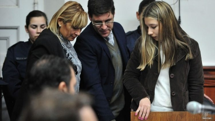 Nahir y sus padres se ausentaron en la audiencia de lectura del veredicto (Ricardo Santellan)