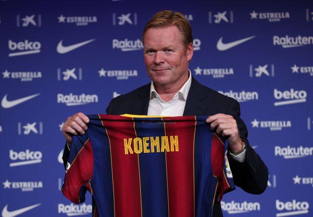 Koeamn fue presentado oficialmente como el DT del Barcelona (Reuters/ Albert Gea)