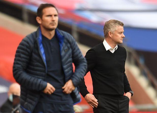 Frank Lampard y Ole Gunnar Solskjaer, los entrenadores jóvenes que clasificaron al Chelsea y al Manchester United, respectivamente, a la Champions League (Reuters)