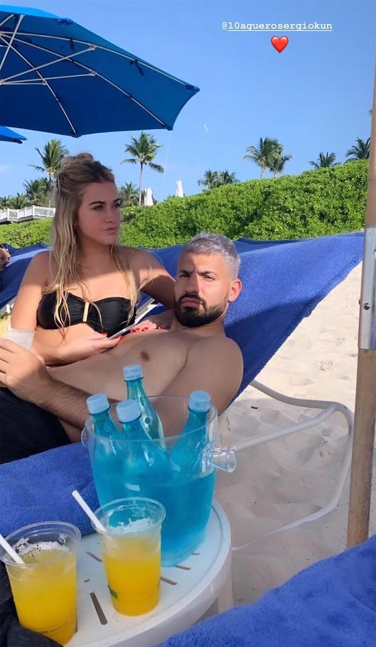 El Kun y su novia, súper relajados (Instagram)