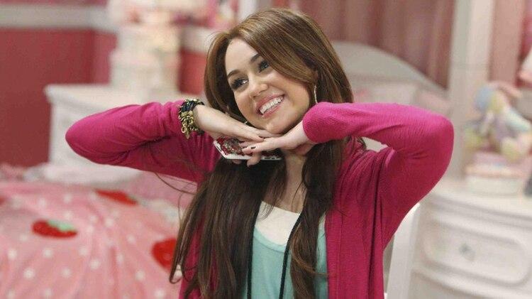 Miley Cyrus en su época de