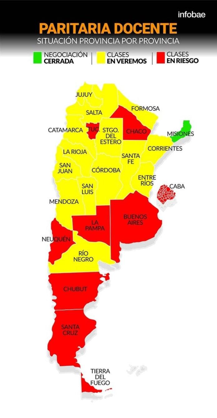 El mapa de las paritarias docentes: en qué provincias peligra el comienzo de clases, Periódico San Juan