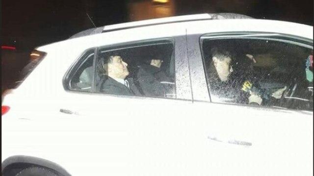Carlos Zannini, al momento de ser trasladado por efectivos de la Policía Federal