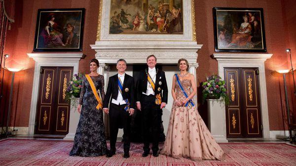 Un gran banquete agasajó al presidente Mauricio Macri y a su mujer Juliana Awada (AP)