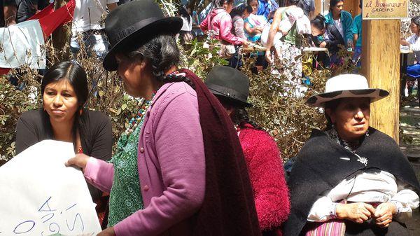 Las mujeres indígenas han protestado reiteradamente contra el gobierno de Correa