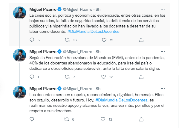 Miguel Pizarro Venezuela