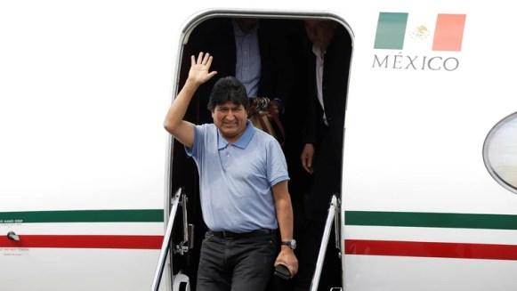 Evo Morales a su llegada a México el 12 de noviembre REUTERS/Luis Cortes