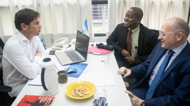 Los enviados del FMI y Kicillof, en la visita del organismo en febrero